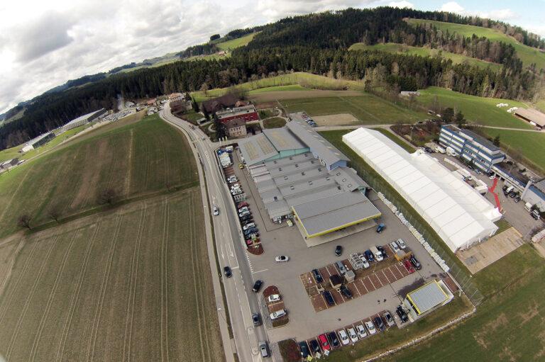 Luftaufnahme Zeltbau