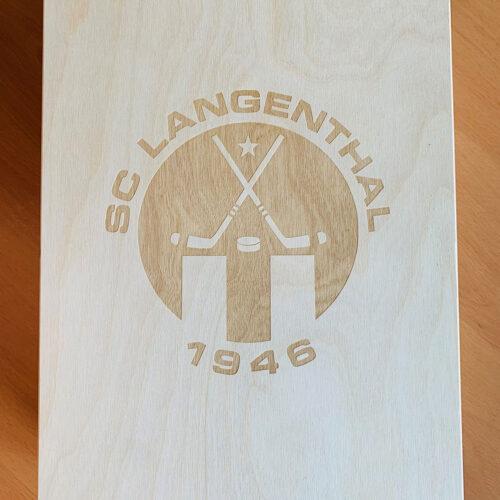 GenussBox mit Logo gelasert